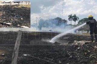 Voraz incendio cerca al puente viejo de Montería pudo terminar en explosión