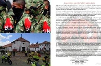 Mediante comunicado ELN dice ser el autor de atentado en la General Santander
