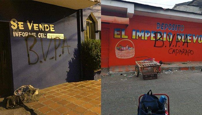 Montelíbano aterrorizado con grafitis de 'Los Caparrapos'