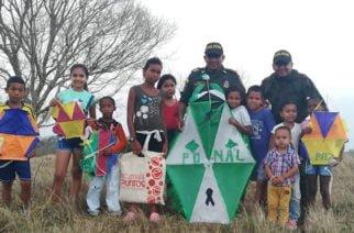 Policía de Montería realizó el festival de la cometa
