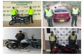 Policía recupera 4 automotores en Córdoba