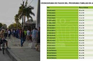 Vuelven las filas a Montería: Cronograma de pagos familias en acción