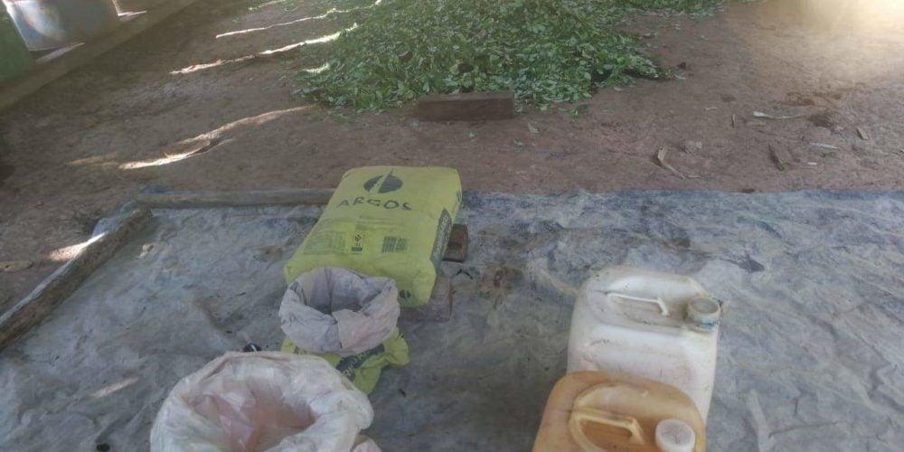 Destruyen el primer laboratorio para procesar coca en 2019