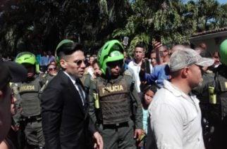Falcao llegó al funeral de su padre y no aguantó las lagrimas