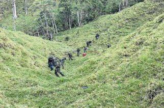 La Fiscalía y el Ejército Nacional ocuparon cerca de 300 hectáreas de la Antigua Farc