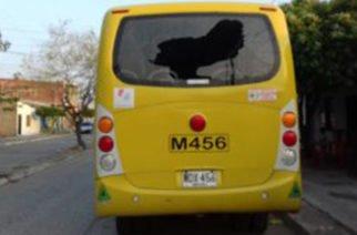 A piedras fueron atacados buses de Metrosinú presuntamente por haberle cerrado paso a motociclista