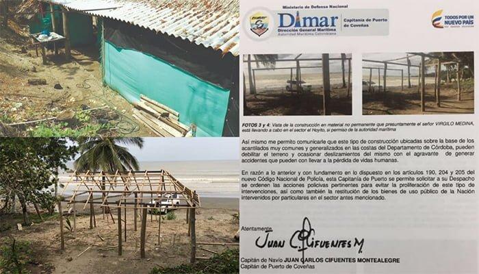 Alcaldía de Puerto Escondido dejó construir en playa turística sin permiso de Dimar