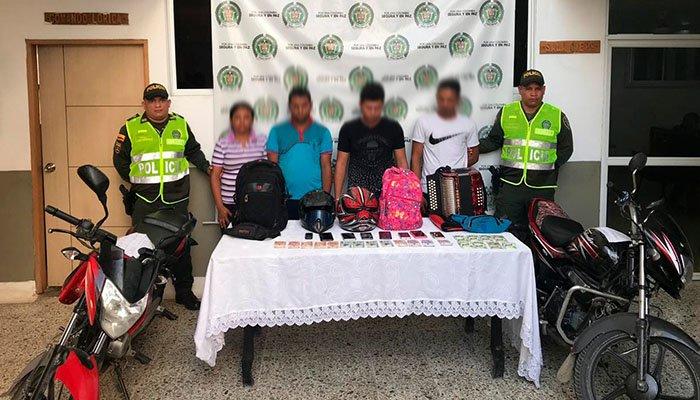 Cuatro personas capturadas por hurto en Lorica