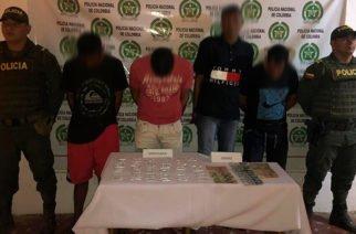 Cuatro personas capturadas por tráfico de estupefacientes en Montelíbano