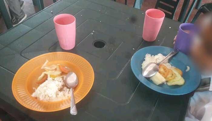 Sólo arroz, yuca y ensalada: Denuncian PAE en colegio de Montería