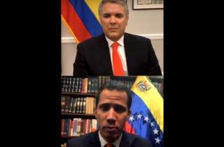 Video: Lo que se dijo en el live de Instagram entre Duque y Guaidó