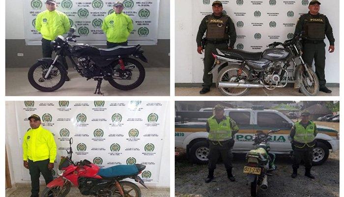 En Córdoba Policía recupera cuatro motocicletas reportadas por robo