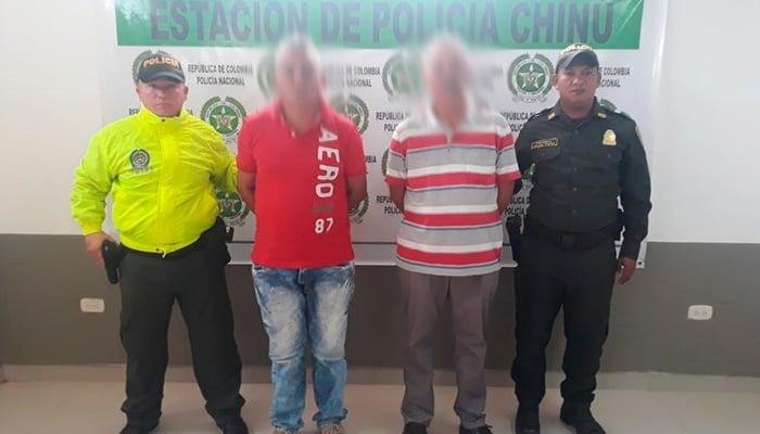 En Chinú 2 hombres capturados por delitos sexuales con una niña de 13 años