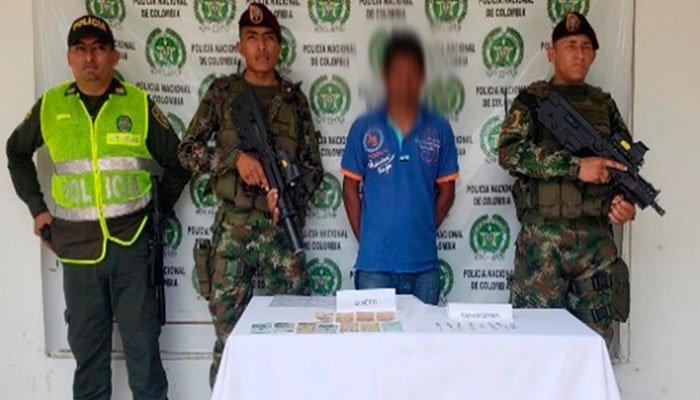 En Montelíbano hombre fue capturado con más de 40 dosis de marihuana