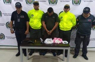 En Montería Capturan a hombre con arma de fuego ilegal y un kilo de coca