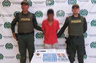 En Planeta Rica capturan a hombre con más de 90 dosis de marihuana y cocaína