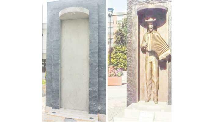 Inauguración de la estatua de Alejo Durán en Planeta Rica generó falsa expectativa