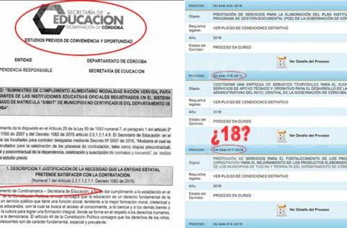 ¿Estudio previo de PAE Córdoba copiado de Gob.Cundinamarca?