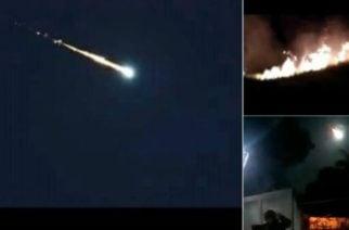 Circulan videos en redes de un supuesto meteorito que cayó en Venezuela
