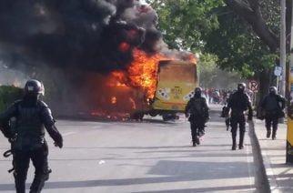 Joven capturado por quema de buseta sería estudiante de la Unicor