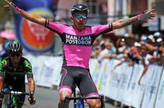 Juan Sebastián Molano, ganador de la tercera etapa del Tour Colombia 2.1