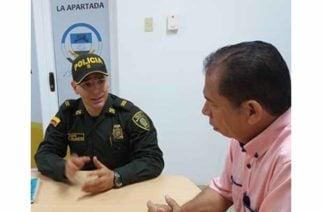 La Apartada tiene nuevo comandante de la Policía