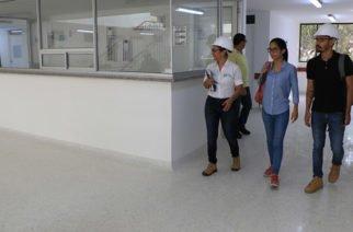 Obras que se adelantan en el Hospital San Jerónimo fueron supervisadas por Sec. de Infraestructura