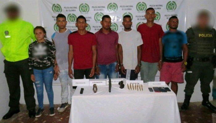 Policía captura 7 integrantes del Clan del Golfo en Montelíbano