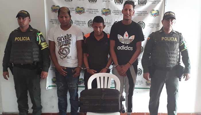 Tres capturados luego de atraco en vía Montería-Lorica