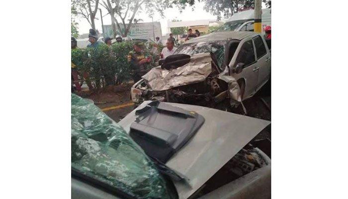 Aparatoso accidente se registró en la carretera Montería-Cereté