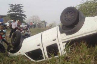 Conductor perdió el control y se volcó en la vía Cereté-Ciénaga de Oro
