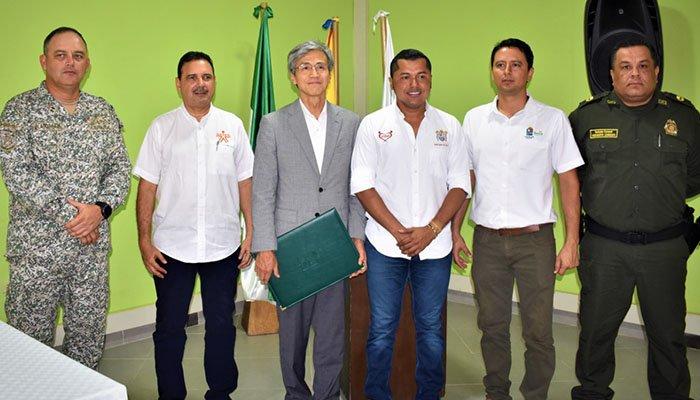 Embajador de Japón en Colombia visitó Tolú-Sucre