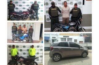 En Córdoba: Policía logra recuperar 4 motos y un auto avaluados en 56 millones