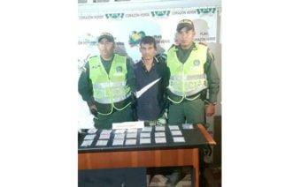 En Montería capturan a un hombre con 189 tabacos de marihuana