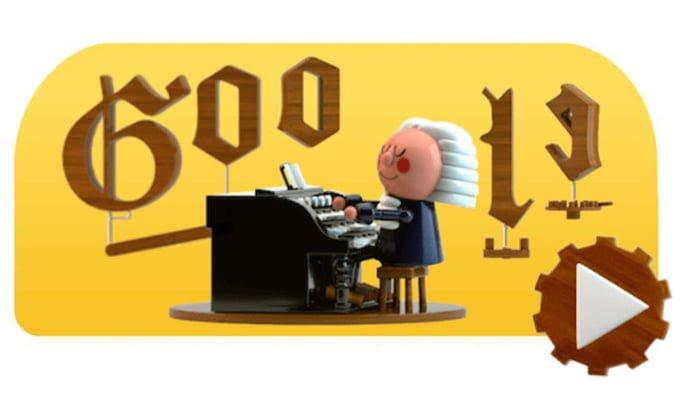 En honor a Johann Sebastian Bach Google protagoniza el primer doodle que permite producir música