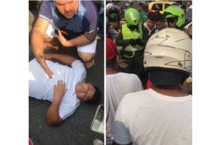 Vídeo: Joven venía presuntamente huyendo de persecución policial y fue impactado por una camioneta en la calle 36 con Av. 2