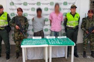 Policía y Ejército incautan más de 200 dosis de base coca, bazuco y marihuana en Montelíbano