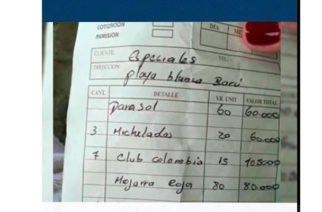 ¡Aprovechados!: Restaurante en Cartagena le estaba cobrando a turista $292.000 de más