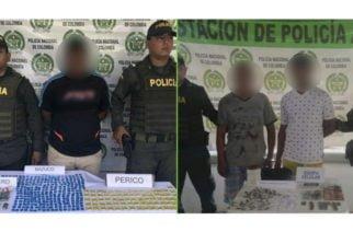 Capturan a tres hombres en Córdoba y les incautan 815 dosis de estupefacientes