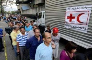 Disparos protagonizaron el inicio de la distribución de la Ayuda Humanitaria en Caracas