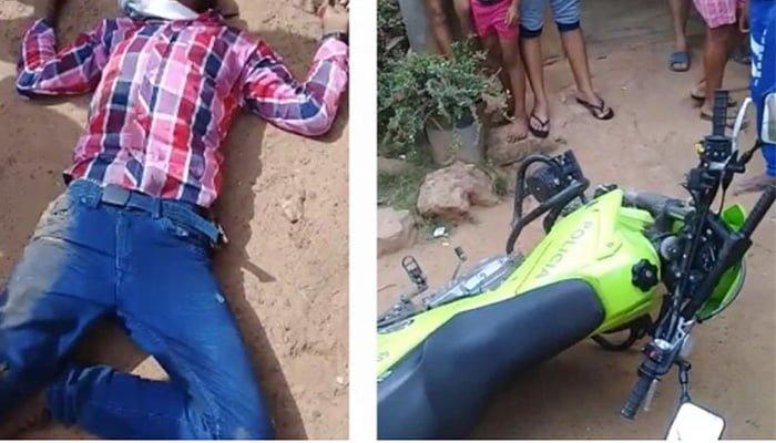 En Tierralta: Quiso dárselas de bravo y machetear a un policía pero lo balearon primero