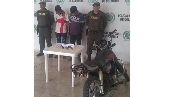 En Sahagún capturaron a dos hombres portando arma de fuego ilegal