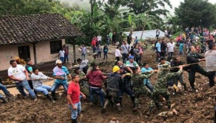 17 muertos en el Cauca por deslizamieto de tierra