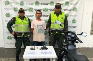 Lo capturan en Montelíbano por porte ilícito de arma de fuego