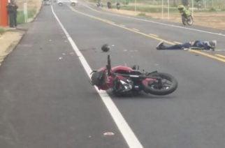 Un hombre muerto y una mujer herida por accidente de tránsito en Planeta Rica