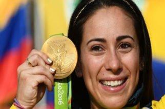 Mariana Pajón presentó en Medellín la Copa que lleva su nombre