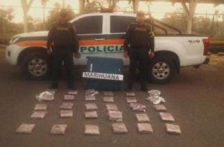 En bus de Brasilia capturan a un hombre con 20 kilos de marihuana camuflados en una maleta