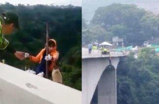En Video: Policía de Tránsito de Ibaqué logra evitar suicidio de una joven en puente de La Variante