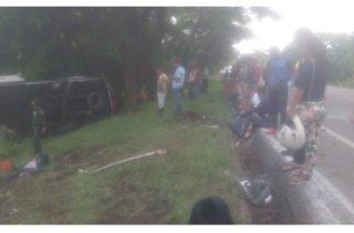 Buseta de Unitransco se accidentó en la Troncal Caribe y dejó dos muertos y 23 heridos