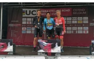 Colombiana Carolina Munevar ganó medalla de oro en la Copa Mundo de Paracycling